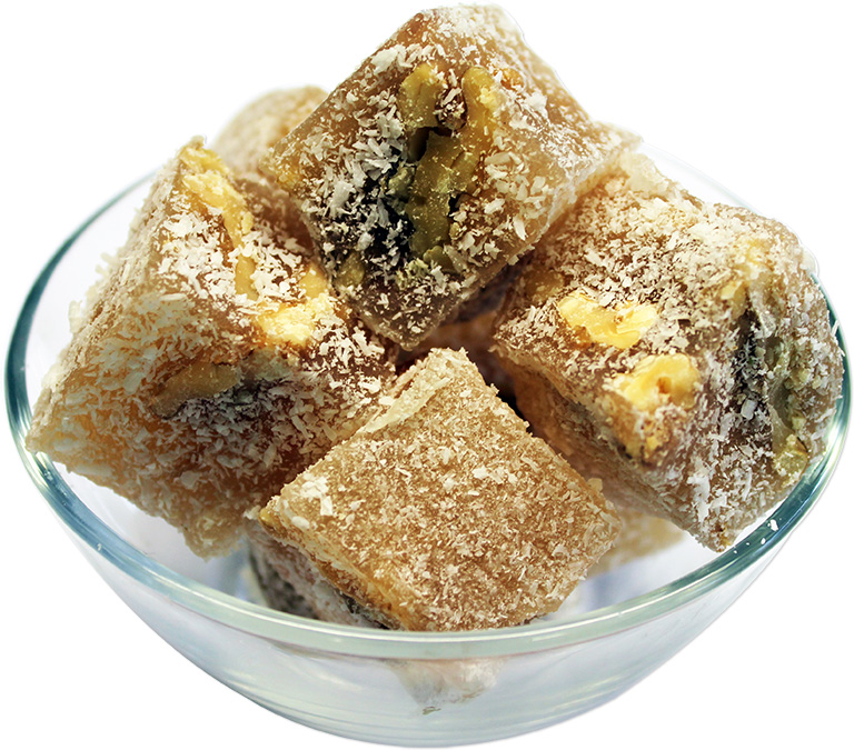 Walnuts Turkish Delight with Coconut